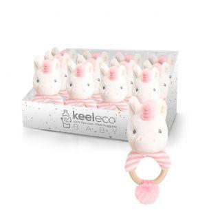 RING RATTLES UNICORN (KEELECO BABY)